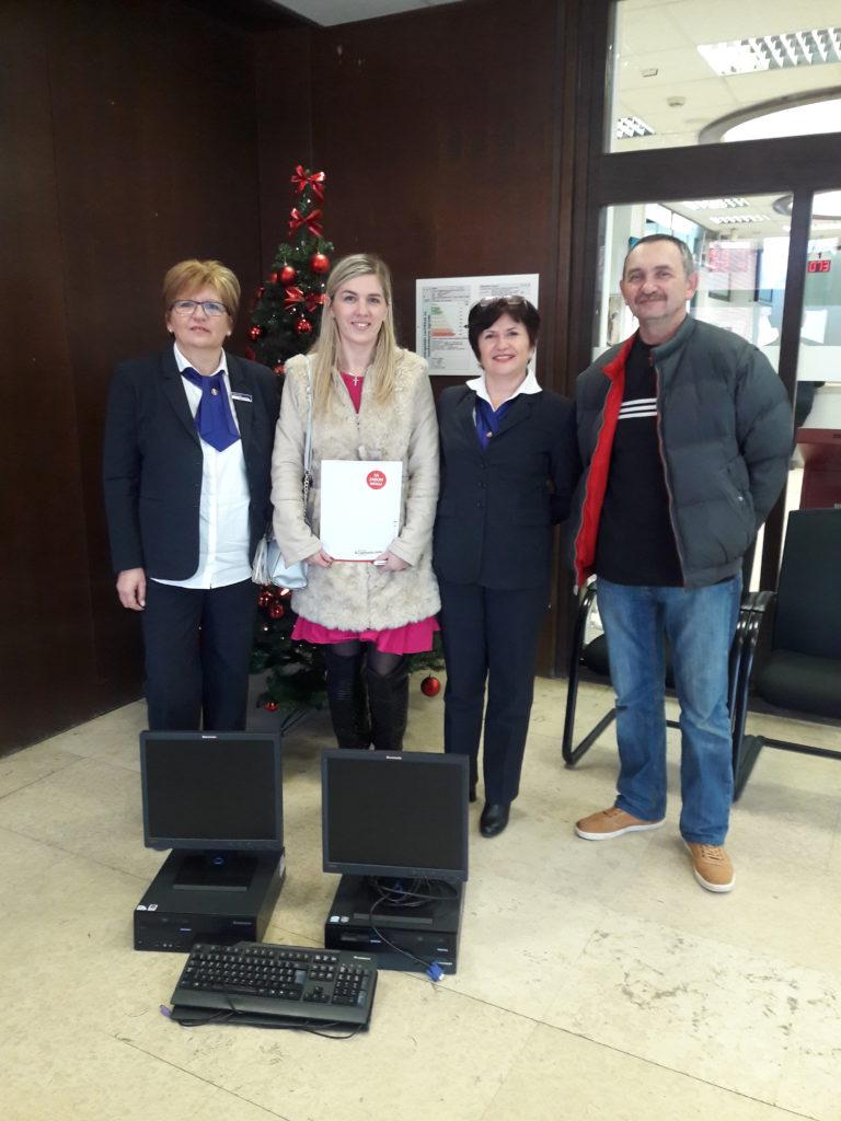 Zagrebačka banka donirala dva računala djeci vrtića Maslačak Đurđevac