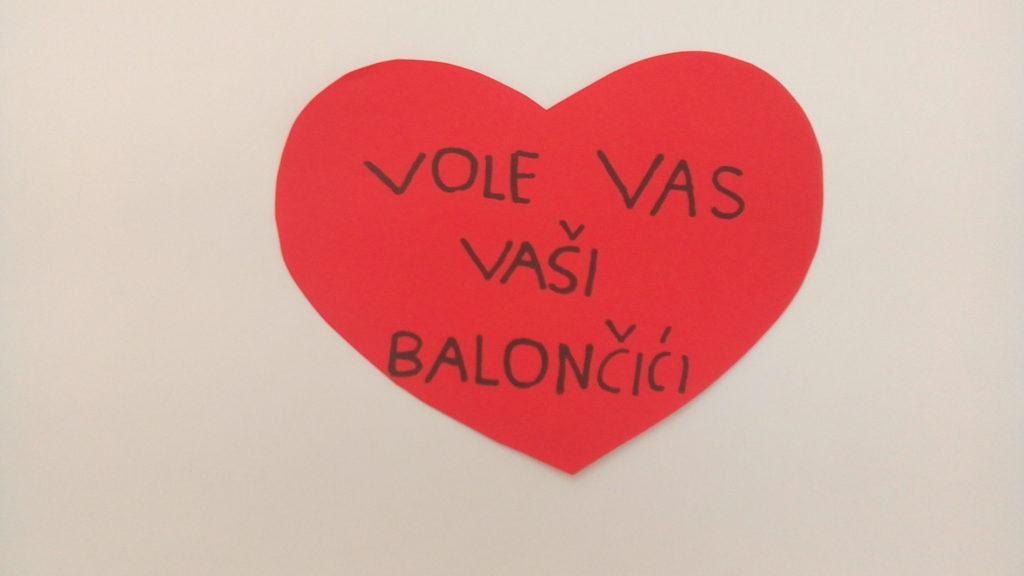 Valentinovo u skupini Balončići