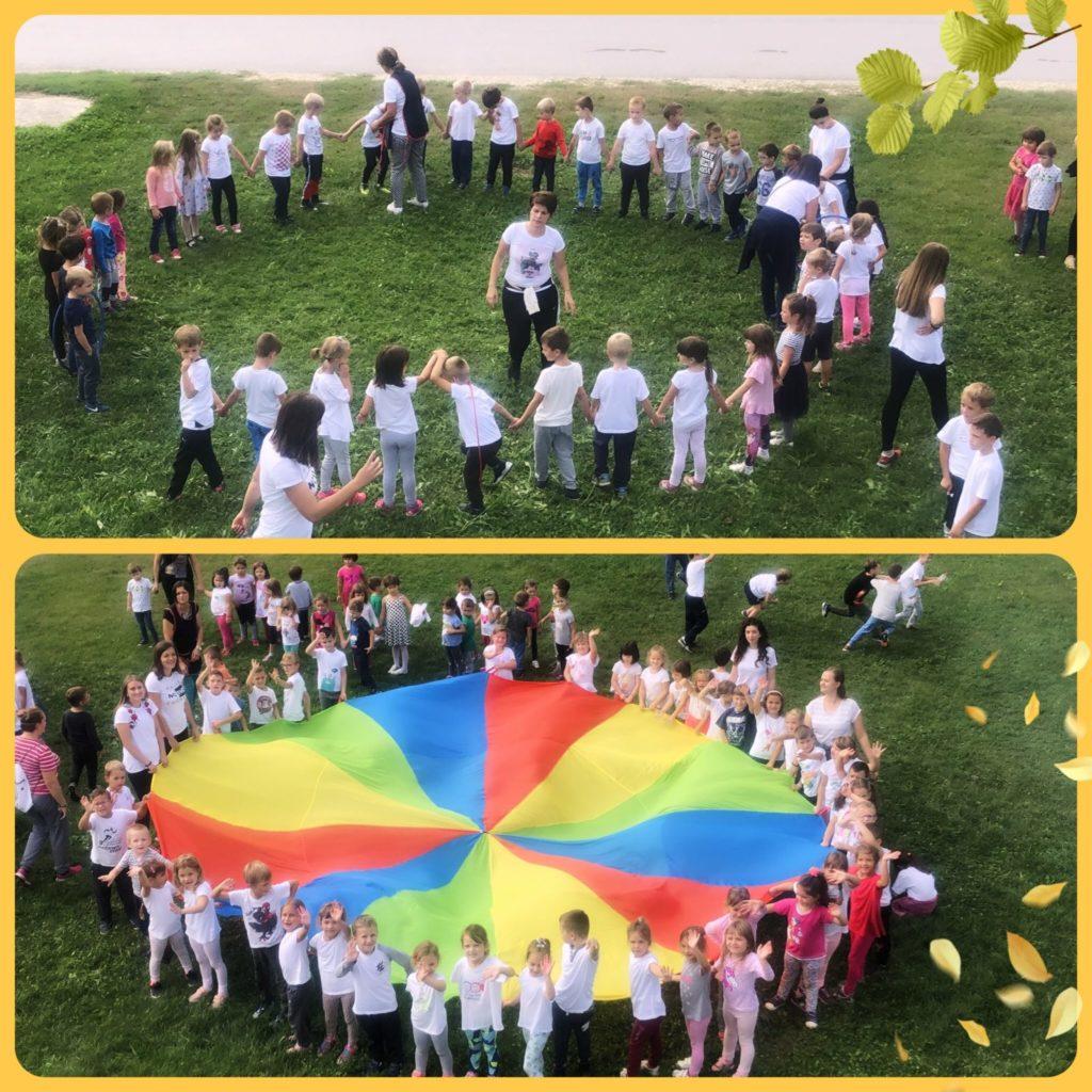 Mali i veliki olimpijci: vrtićarci sportskim aktivnostima obilježili Hrvatski olimpijski dan